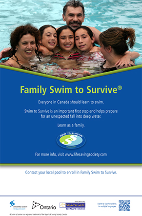 Family Swim to Survive poster EN 291