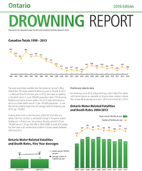 2016 Drowning Report Cover 291
