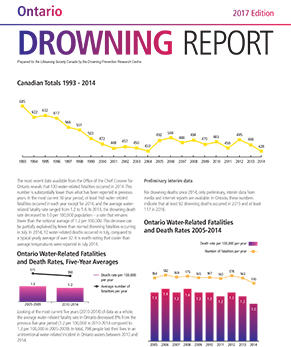 2017 Drowning Report Cover