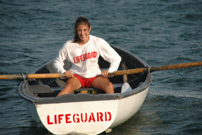 Lifeguard rowing